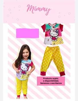 Pijama Hello Kitty Pantalon Largo para Niña