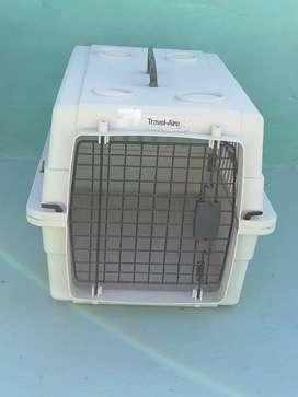 Caja transportadora para perro, travel aire kennel 68x45x47