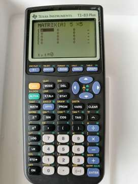 Calculadora Texas ti-83 plus financiera científica matrices