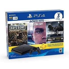 Sony Playstation 4 PS4 Slim 1Tb + tres juegos fisicos - Misamovil