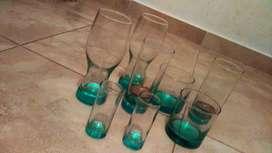 Vendo  juego de vasos  son 16 vaso