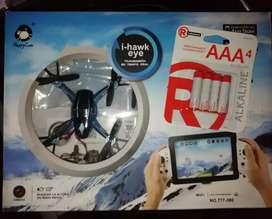 Drone i Hawk eye con cámara de video en tiempo real, totalmente nuevo