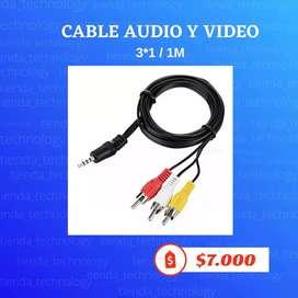 Cable de audio 3X1