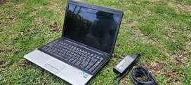 Portátil Compaq, Intel dual core,320 dd, 2 gb de ram, 14 pulgadas