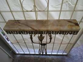 Dressoire de Bronce Y Marmol con Espejo