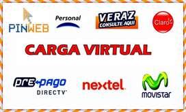 CARGA VIRTUAL + CARGA DE COLECTIVO todo el pais!!!