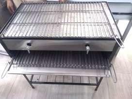 Asador a gas con gratinador ( para arepas)