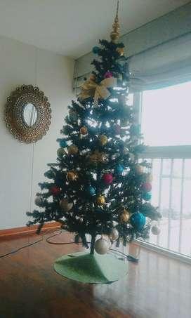 Arbol de Navidad Desarmable 1.80cm Obsequio Decoración como en foto