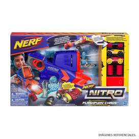 Nerf lanzador con 3 carros
