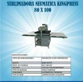 Sublimadora Neumatica 80 x 100