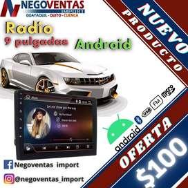 RADIO PARA CARRO  9 PULGADAS ANDROID CON GPS INTEGRADO