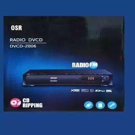 REPRODUCTOR DVD Control Remoto Radio Fm Usb Mp3 Mic Eco NUEVOS-ENVÍOS