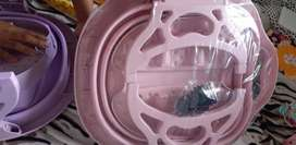 Tina de pedicure plegable color rosada nueva