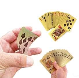 Cartas Baraja De Poker Cartas Dorado De Lujo Ultra Fino