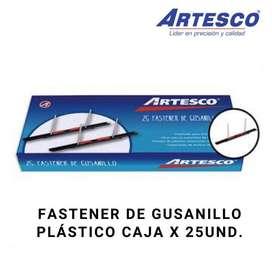 FASTENER DE GUSANILLO PLÁSTICO CAJA X 25UND.