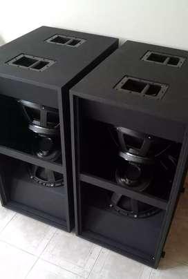 Fabrico cajas para sonido profesional