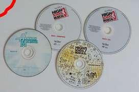 Lote 4 CDS y dvd de High School Musical 2 y 3 Hannah Montana OLXJESS