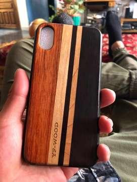 Carcasa estuche case de madera Iphone 10 original