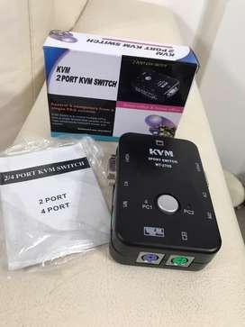 Switch KVM 2 port.