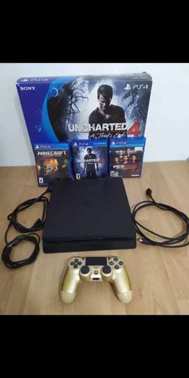 PS4 Slim 500gb + 3 juegos + joystick