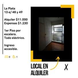 LOCAL EN ALQUILER 13 Y 48 IDEAL OFICINA/CONSULTORIO EXCELENTE UBICACIÓN