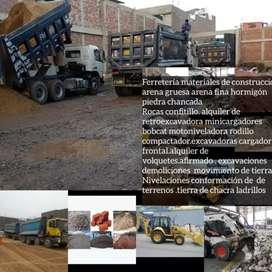 CONTRATISTA Demolición de casas alquiler de maquinaria  movimiento de tierras AFIRMADO DE CANTERA