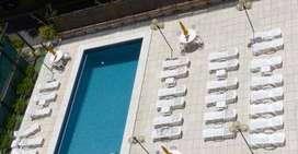 alquilo por 1 dia ymas en recoleta 2/4 personas piscina wifi .-