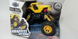 Monster Truck Pull Back Graffiti Off-road 4wd KLX  Toys