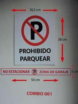 Aviso Prohibido Parquear 30,5X38 Cm Señalización