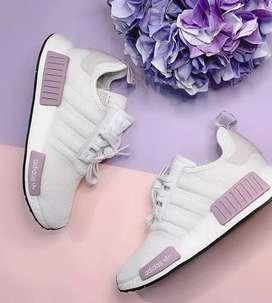 Adidas nmd  blancos y gris