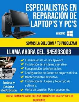 Reparación y ensamblaje de laptop's y PC's en Pucallpa