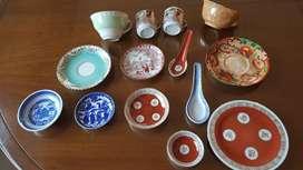 Lote de piezas de porcelana