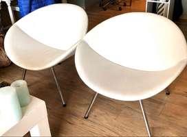 Vendo 2 sillones Ovo Rossi blancos