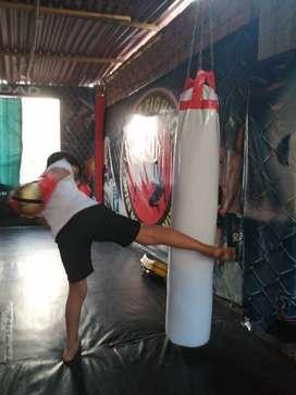 Sacos de boxeo, muay thai profesional, llenos con caucho refinado