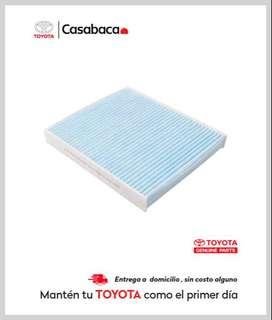 Filtro aire acondicionado para vehículos Toyota - Repuestos Casabaca Hilux - Fortuner - Corolla - Rav - Yaris - 4Runner