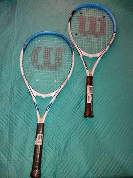 Vendo raquetas Wilson nuevas más tarro de 4 pelotas marcas Penn Premier 1