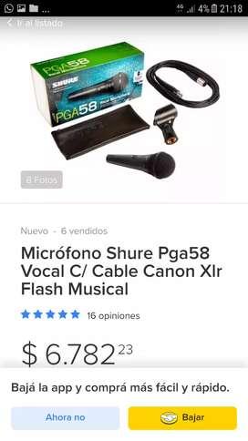 Microfono shure pga58 en exelente nuevo