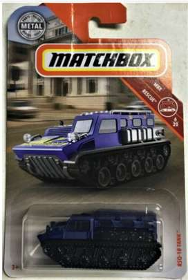 2019 Matchbox RSQ-18 Tanque #44/100 [Azul] Mbx rescate