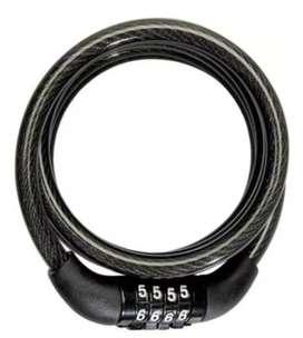 Cable Candado Guaya Para Moto Bici Casco Clave De 4 Dígitos