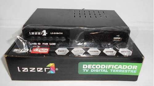Decodificador Tdt Lazer Con Wifi Youtube LZ-DVB4791