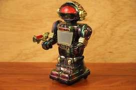 Robot Vintage con Pantalla Integrada