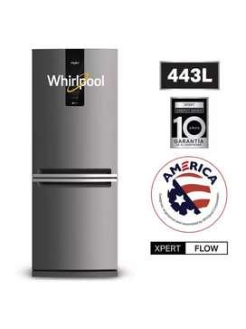 Refrigeradora Premium Bottom Freezer 443 Litros French Door Whirlpool Refrigerador WRE57AKBPE