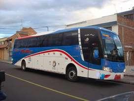 """Vendo bus en la Cooperativa """"Flota Pelileo"""" con o sin acciones y derechos Año : 2014 inicio de recorrido en el año 2015"""