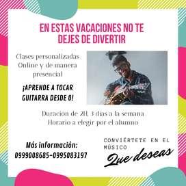 Clases de Guitarra y Canto (Básico e Intermedio)