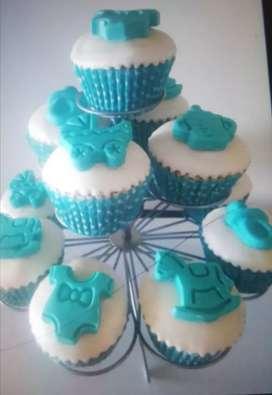 Venta cup cake para baby shower