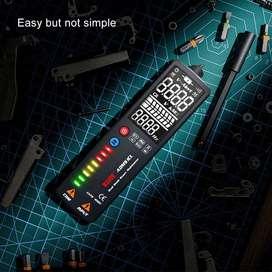 Multimetro Inteligente Auto Voltaje Voltimetro Tester Digital Auto AC DC Luz Pantalla Negra Profesional - 44444