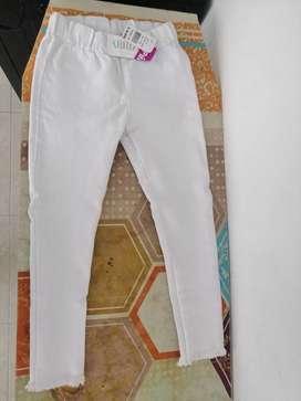 Pantalón Blanco Talla 6 Nuevo