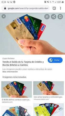 Canjeo saldo de tu tarjeta de crédito, tarjeta de comida o regalo.
