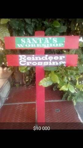 estacas navideñas decorativas