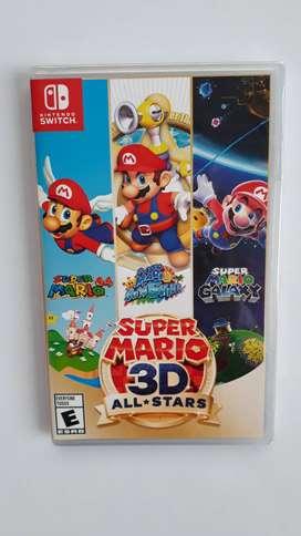 Super Mario 3d All Stars Juego Nintendo Switch Nuevo Sellado